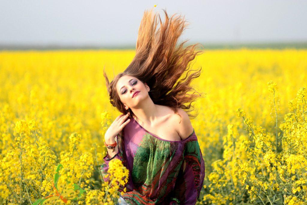 girl-field-yellow-flowers